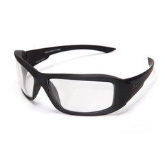 Edge Eyewear Hamel Svart Thin Temple Clear Vapor Shield