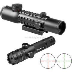 Barska Electro Sight 4x28 Tactical Multi Rail med Laser