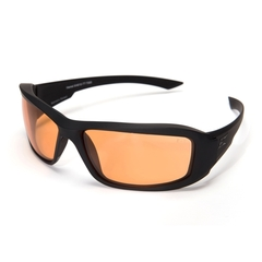 Edge Eyewear Hamel Svart Thin Temple Tigers Eye Vapor Shield